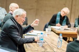 """Peter Stein w czasie prób """"Borysa Godunowa"""" - Teatr Polski. Fot. Krzysztof Bieliński"""