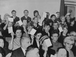 Krajowy Zjazd Miłośników Teatru 1966 Warszawa. Fot. Archiwum TKT.